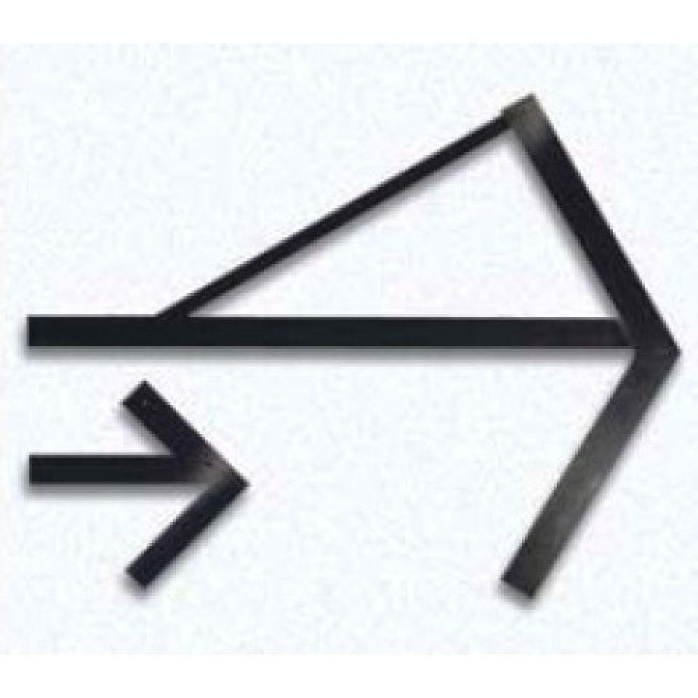 Угольник для определения центра окружности BO 077