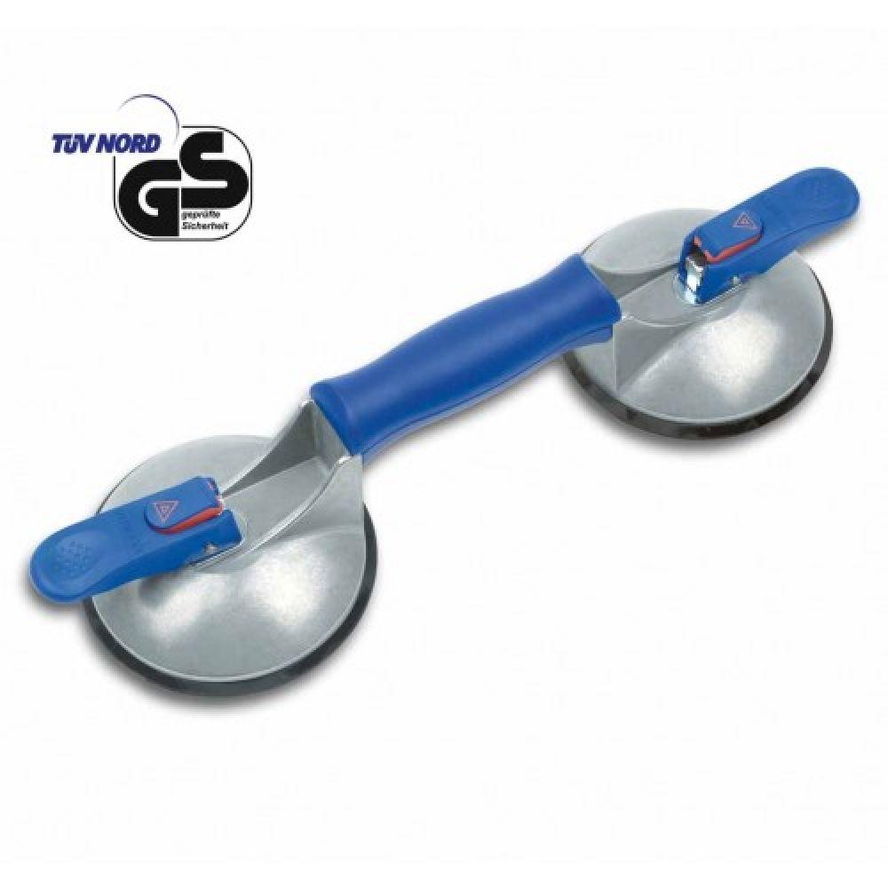 Присоска двойная «Blue Line» с индикатором разряжения