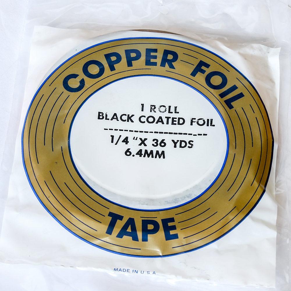 Фольга «Edco» с черным клейким слоем (шир. 5,7 мм, длина 33 м.)