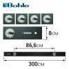 BO 052.304 Линейка для резки стекла (толщина 10 мм, длина 3.0 м, 4 присоски)