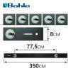 BO 052.355 Линейка для резки стекла (толщина 10 мм, длина 3.5 м, 5 присосок)