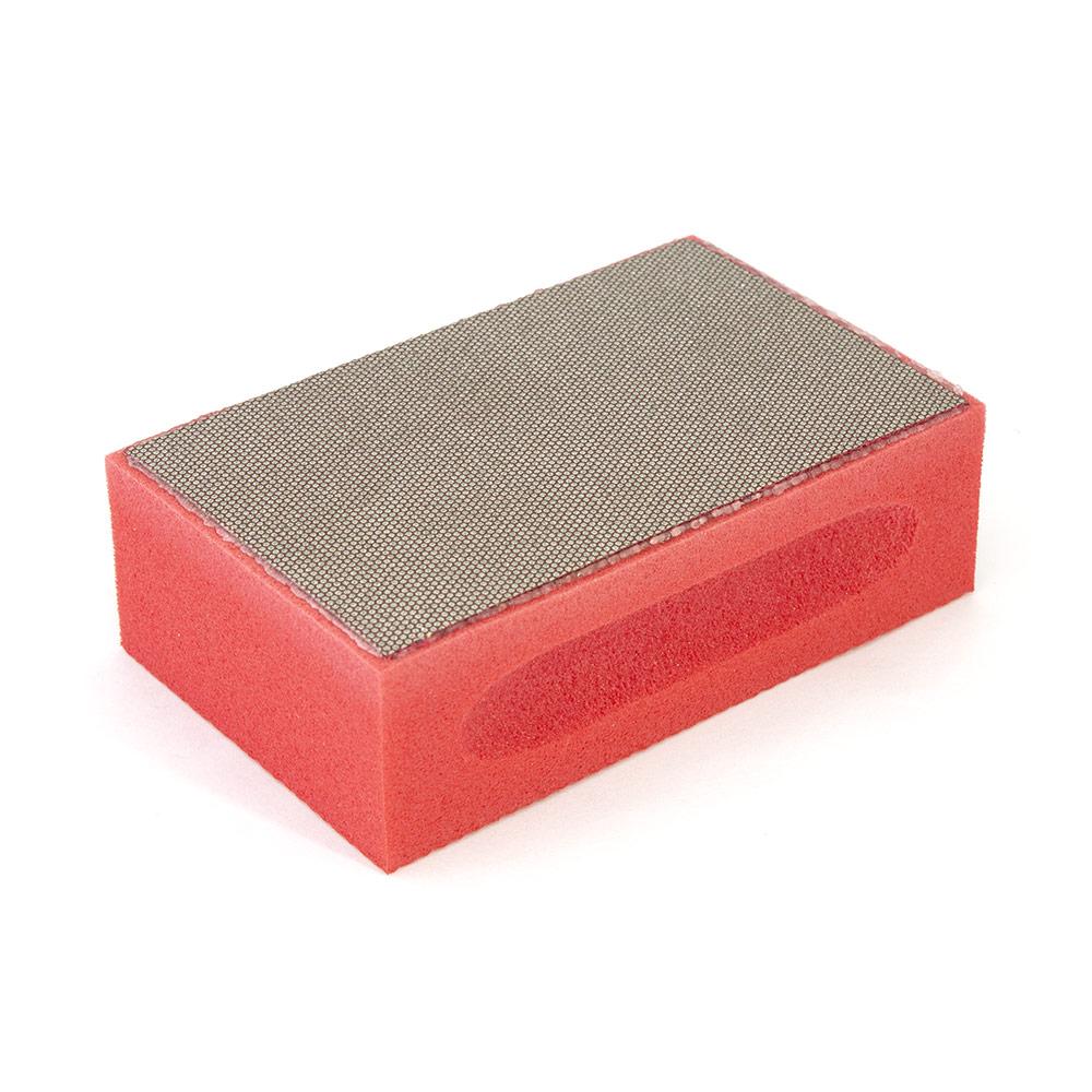 Алмазная шлифовальная губка «Diapad» 100х55х27 мм, красная с зерном 220