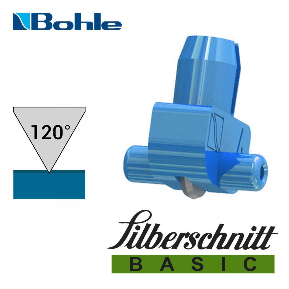 Пластиковый держатель <Silberschnitt> с роликом угла заточки 120° (голубой)
