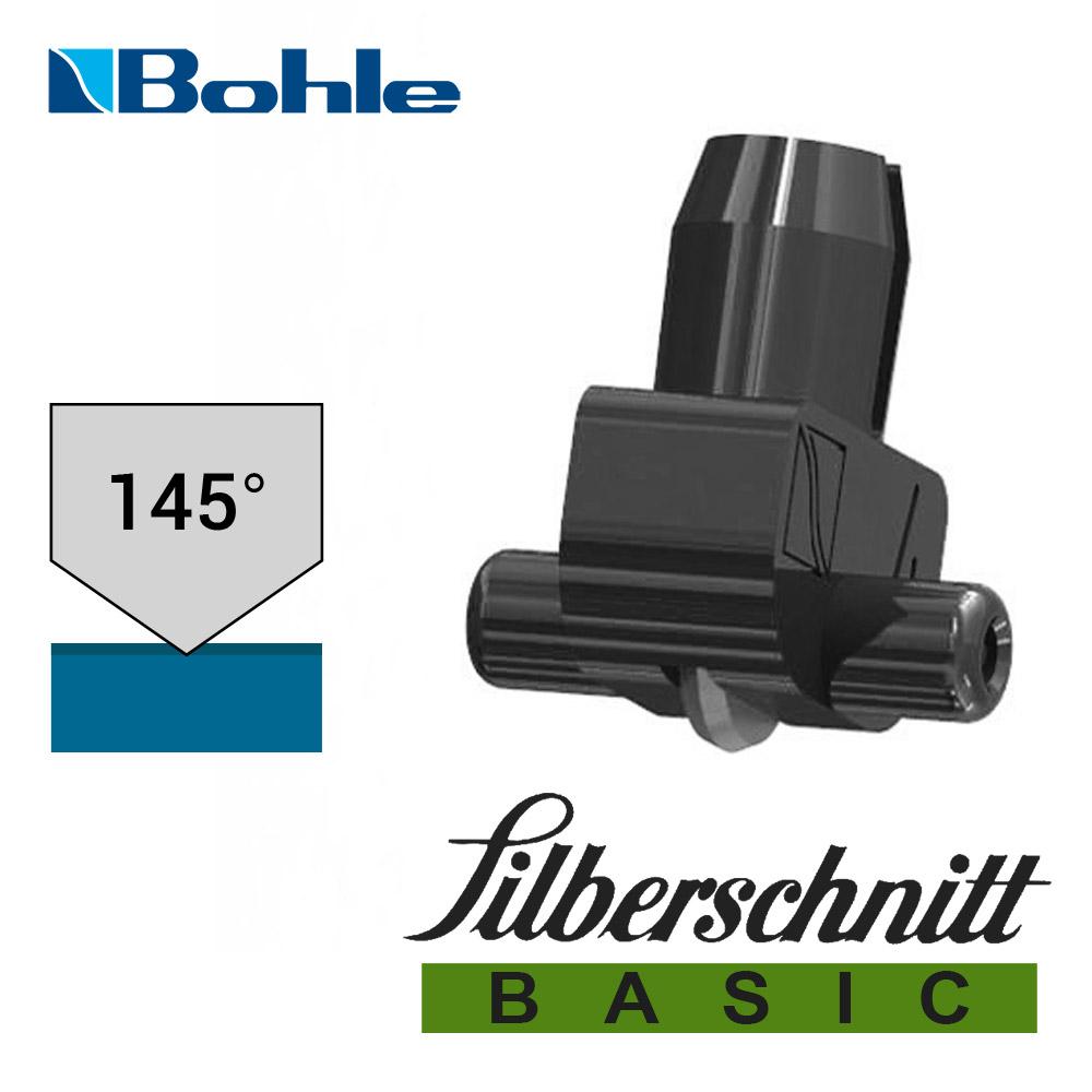 Пластиковый держатель <Silberschnitt> с роликом угла заточки 145° (чёрный), Basic