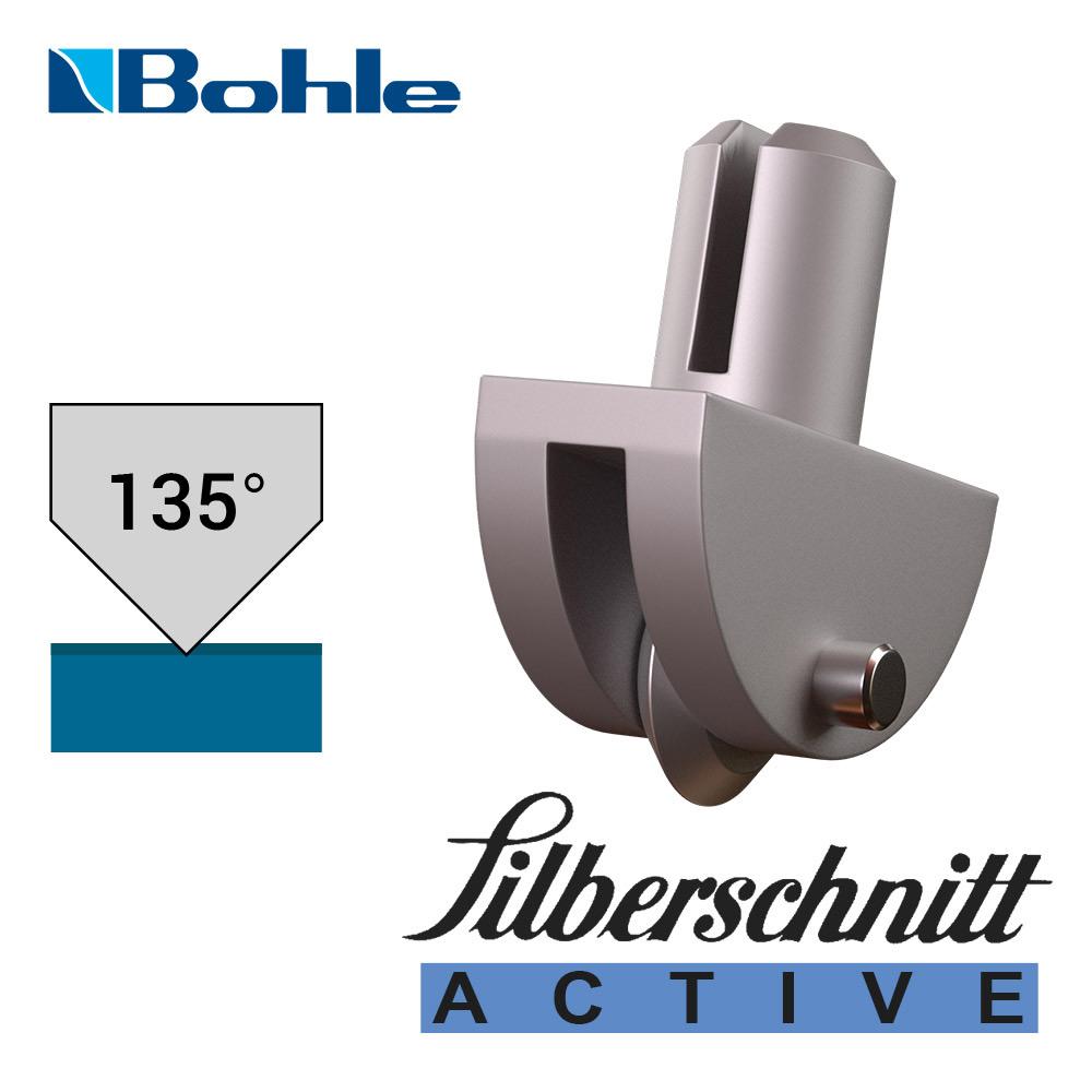 Пластиковый держатель <Silberschnitt> с роликом угла заточки 135° (белый)