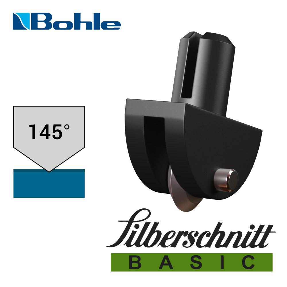 Пластиковый держатель <Silberschnitt> с роликом угла заточки 145° (чёрный)