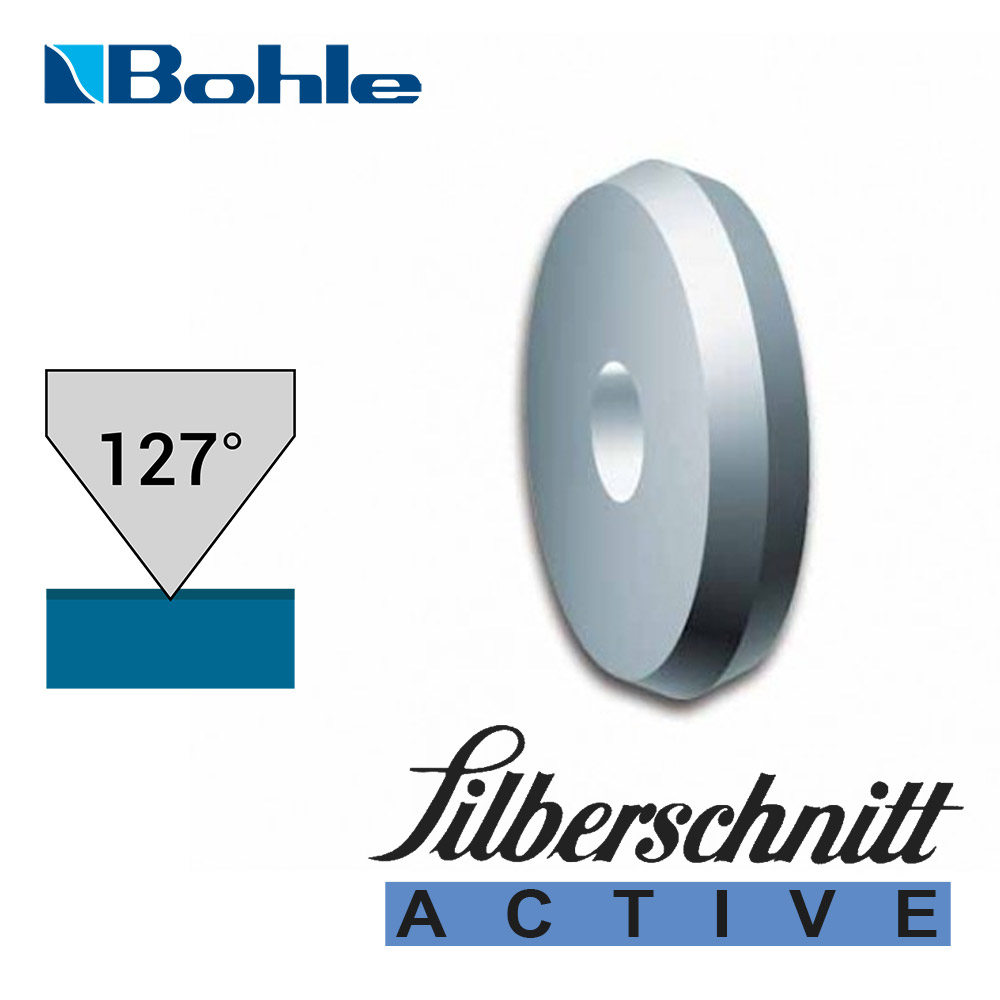 Ролик <Silberschnitt> для автоматизированных столов резки, карбид вольфрама <Active> (3.0 х 1.0 х 1.3 мм, 127°)