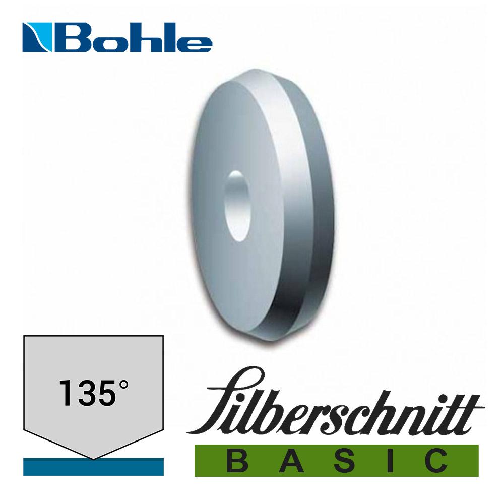 Ролик <Silberschnitt> для автоматизированных столов резки, карбид вольфрама <Basic> (5.0 х 1.0 х 1.3 мм, 135°), BO 02B135L