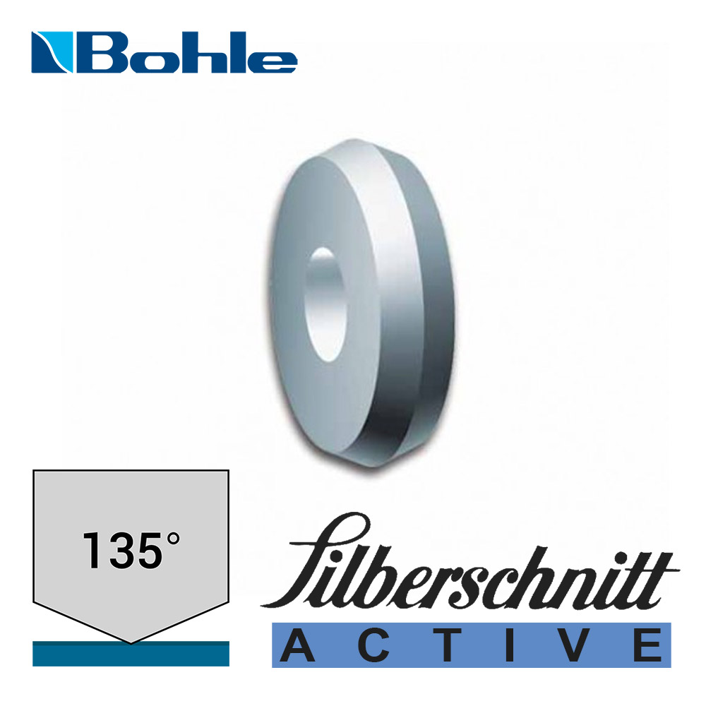 Ролик <Silberschnitt> для автоматизированных столов резки, карбид вольфрама <Acktive> (4.1 х 1.08 х 1.42 мм, 135°)
