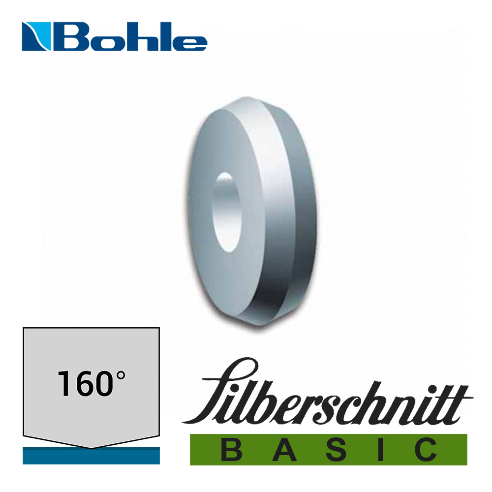 Ролик <Silberschnitt> для автоматизированных столов резки, карбид вольфрама <Basic> (5.6 х 1.08 х 1.42 мм, 160°)