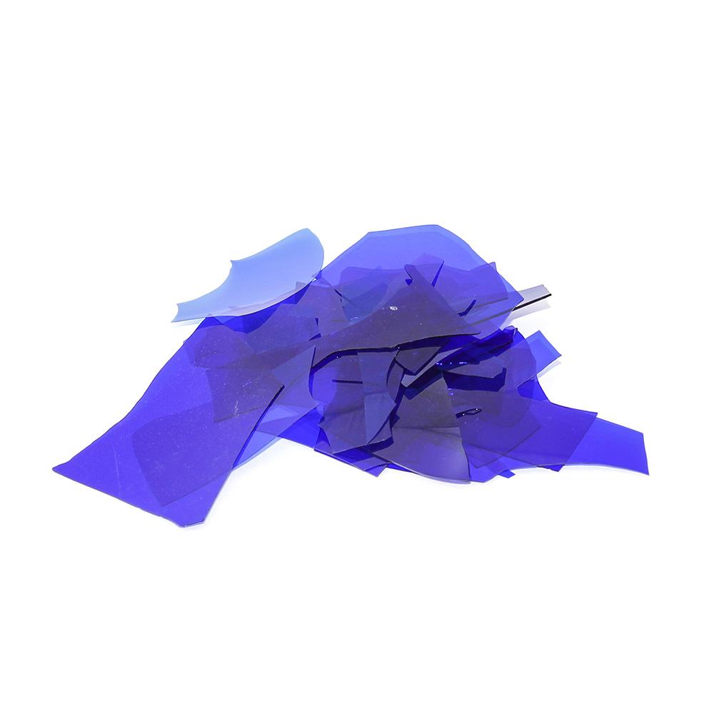 Конфетти стеклянные Синий кобальт
